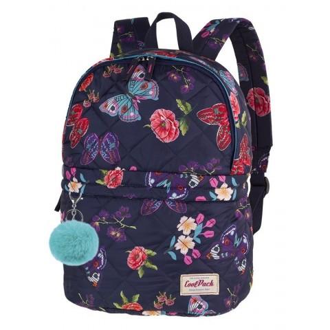 Plecak na wycieczkę CoolPack CP FANNY SUMMER DREAM pikowany w motyle i kwiaty - A103 + GRATIS
