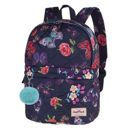 7fadb7a84a6fa Plecak na wycieczkę CoolPack CP FANNY SUMMER DREAM pikowany w motyle i  kwiaty - A103 +
