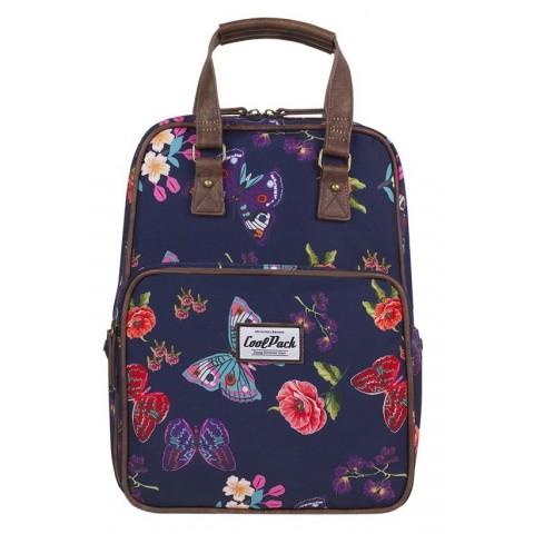 Plecak miejski CoolPack CP CUBIC SUMMER DREAM motyle kwiaty granatowy vintage - A099
