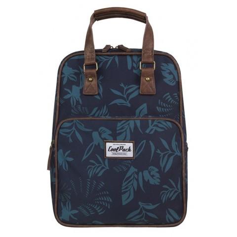 Plecak miejski CoolPack CP CUBIC BLUE DUSK liście niebieski vintage - A087
