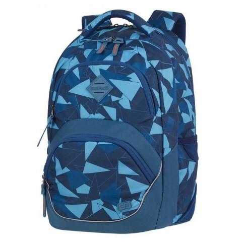 Plecak szkolny ergo CoolPack CP VIPER AZURE niebieskie trójkąty abstrakcja dla chłopaka - A580