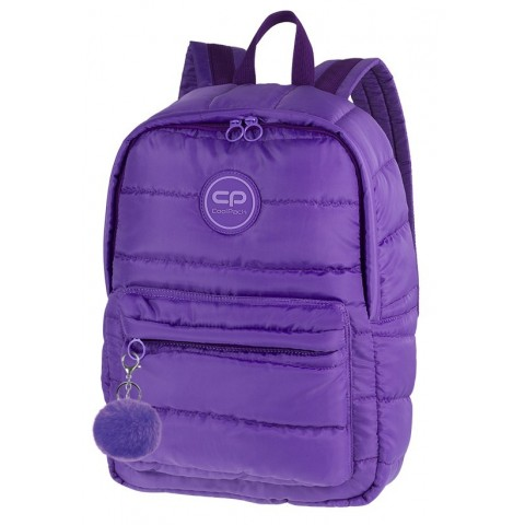 cc6e3940e2213 Innowacyjny puchowy plecak CoolPack CP RUBY VIOLET pikowany fioletowy -  A111 + pompon GRATIS