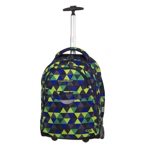 Plecak na kółkach w trójkąty młodzieżowy CoolPack CP RAPID PRISM ILLUSION