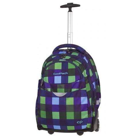 Plecak w kratę zielony, niebieski dla chłopaka CoolPack CP RAPID CRISS CROSS