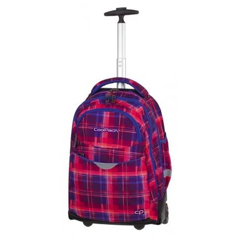 Plecak w kratkę niebieski, różowy dla dziewczyny CoolPack CP RAPID MELLOW PINK