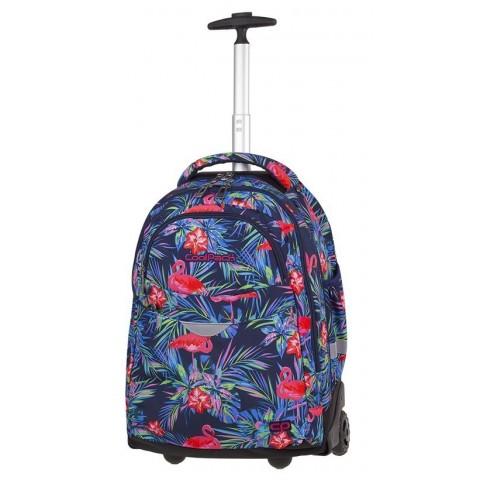 Plecak na kółkach we flamingi różowy, niebieski, zielony dla dziewczyny CoolPack CP RAPID PINK FLAMINGO