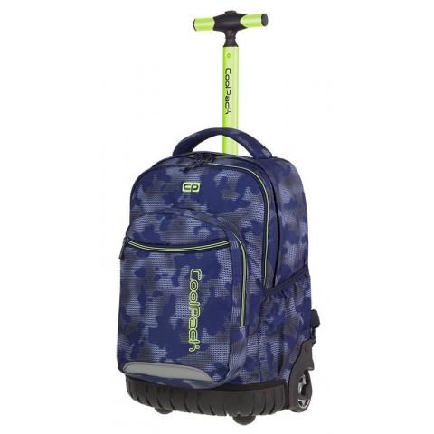 Plecak na kółkach niebieski z zielonym CoolPack CP SWIFT MISTY GREEN - A41 + GRATIS