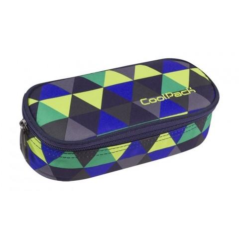 Piórnik szkolny kolorowe trójkąty etui CoolPack CP CAMPUS PRISM ILLUSION - A507