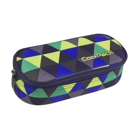 Piórnik szkolny / etui kolorowe trójkąty CoolPack CP CAMPUS PRISM ILLUSION - A507