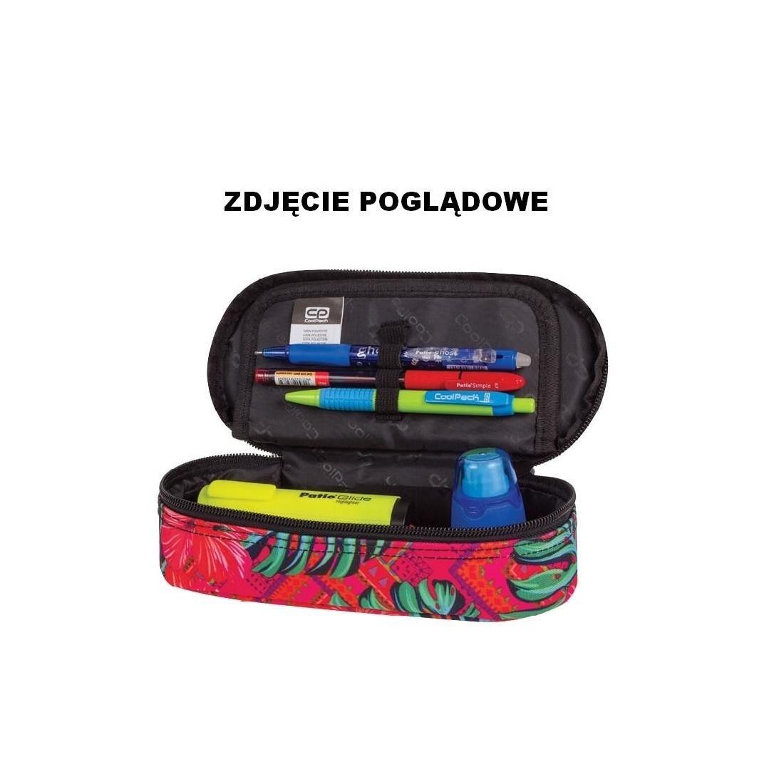 Pojemny piórnik szkolny kolorowe trójkąty etui CoolPack CP TRIANGULAR SPIRAL dla młodzieży - plecak-tornister.pl