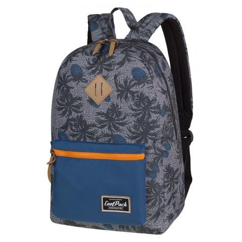 Plecak miejski CoolPack CP GRASP BLUE PINEAPPLE szaroniebieski czarne i niebieskie wzory ananas - A123