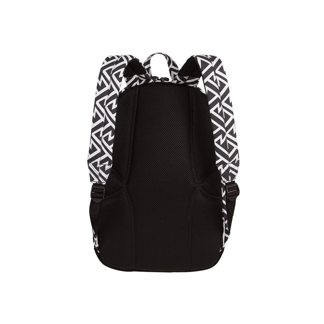 90e01aa0f7256 ... Plecak miejski CoolPack CP GRASP BLACK & WHITE TRIBAL geometryczne białe  wzory czarne tło - A124
