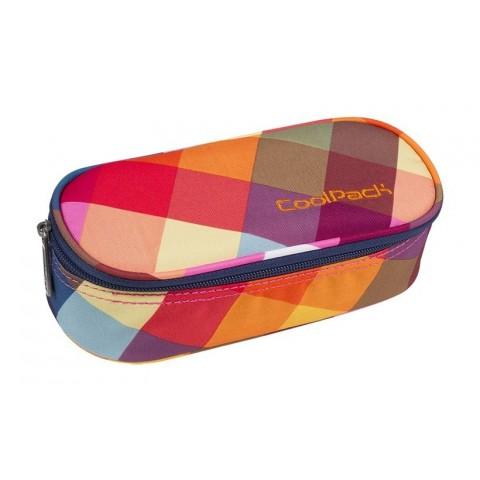 Piórnik jednokomorowy / etui CoolPack CP CAMPUS Candy Check pasy z kwadratów - A533
