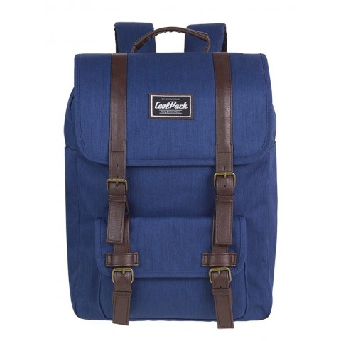 Plecak miejski CoolPack CP TRAFFIC NAVY BLUE niebieski retro - A131