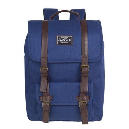 Plecak miejski CoolPack CP TRAFFIC NAVY BLUE niebieski retro kieszeń na laptop - A131