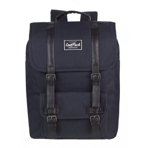 Plecak miejski CoolPack CP TRAFFIC BLACK czarny retro - A132