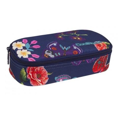 Piórnik szkolny / etui kwiaty motyle niebieski dla dziewczyny CoolPack CP CAMPUS SUMMER DREAM
