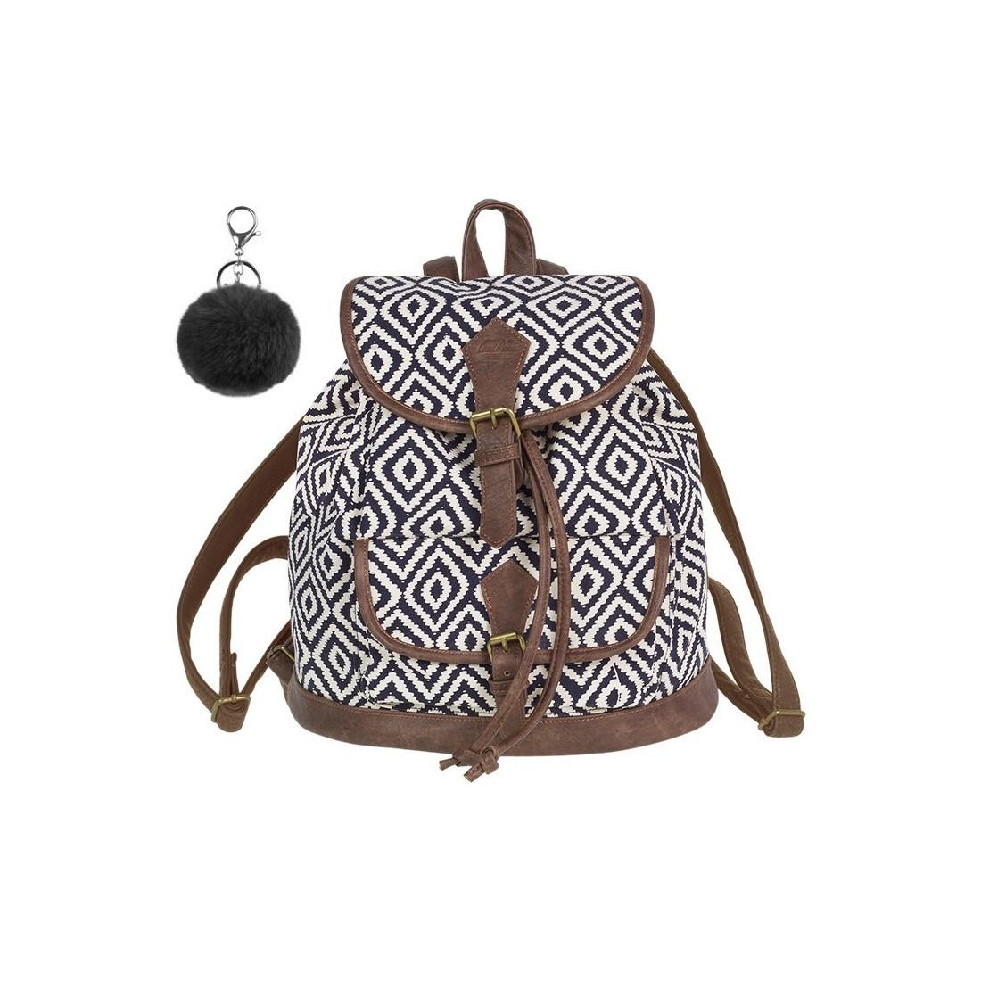 47e0c81e0d9f8 Plecak vintage CoolPack CP FIESTA INDIGO czarno-białe romby - A137 + GRATIS