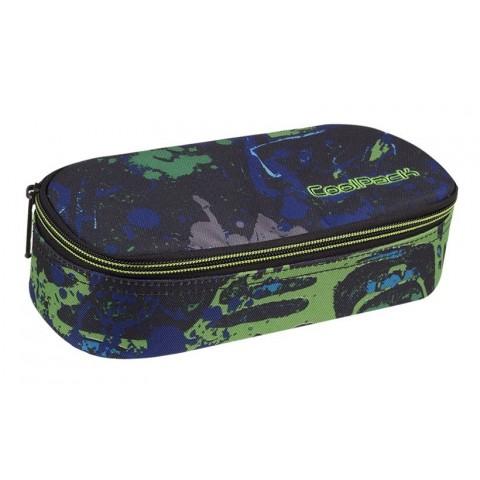 07800c020737d Piórnik szkolny   etui czarno - zielony CoolPack CP CAMPUS SPLASH dla  chłopaka