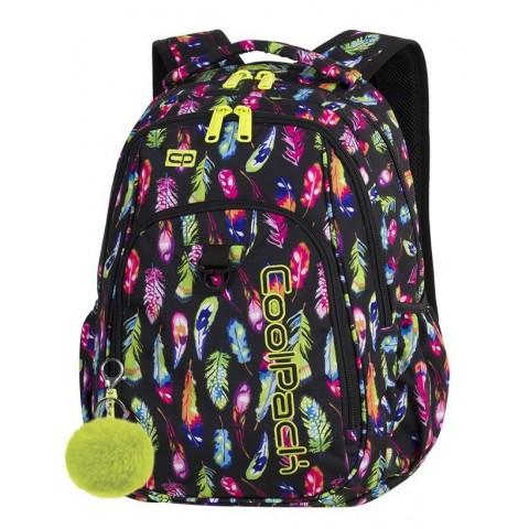 Plecak szkolny CoolPack CP STRIKE FEATHERS piórka dla dziewczyny - A232 + GRATIS POMPON