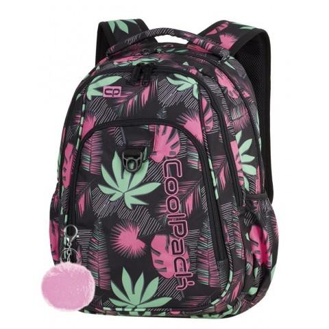 Plecak szkolny CoolPack CP STRIKE POLYNESIAN FOREST kolorowe liście dla dziewczyny - A249 + GRATIS POMPON