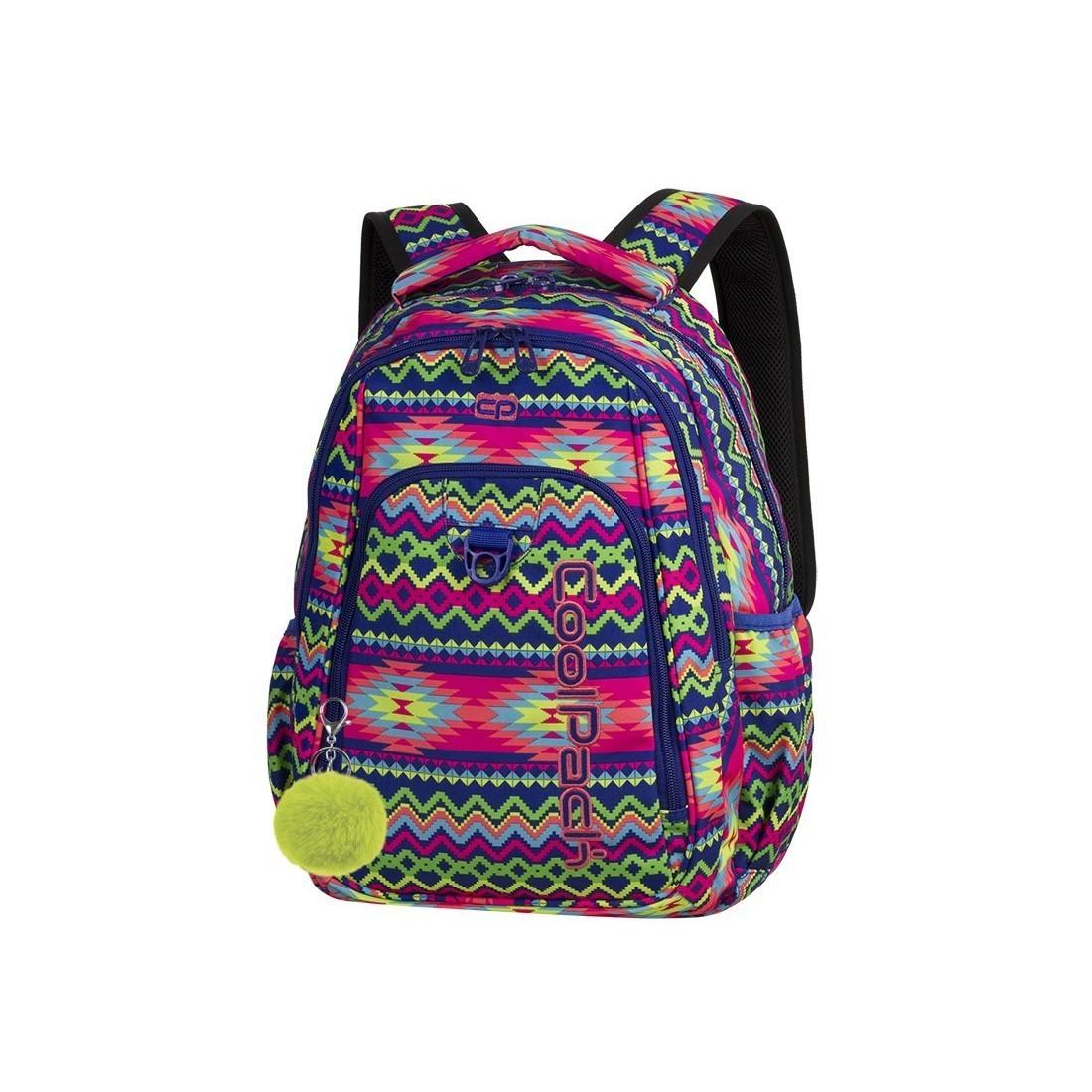 62551e48a6e88 Plecak szkolny CoolPack CP STRIKE BOHO ELECTRA kolorowe zygzaki dla  nastolatki - 781+ GRATIS POMPON
