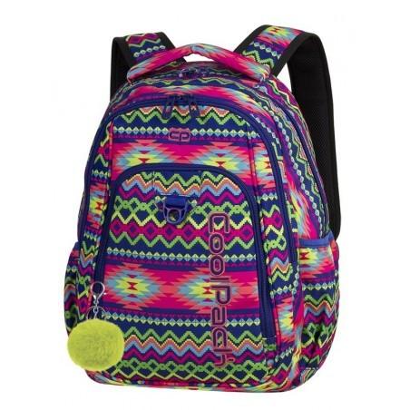 68f1fde910723 Plecak szkolny CoolPack CP STRIKE BOHO ELECTRA kolorowe zygzaki - 781+  GRATIS POMPON