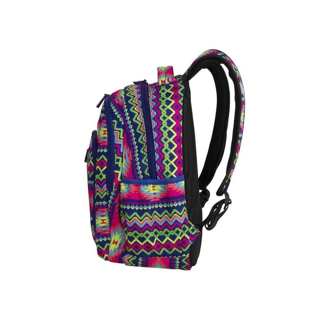 83164bf5c8a27 ... Plecak szkolny CoolPack CP STRIKE BOHO ELECTRA kolorowe zygzaki - 781+  GRATIS POMPON ...