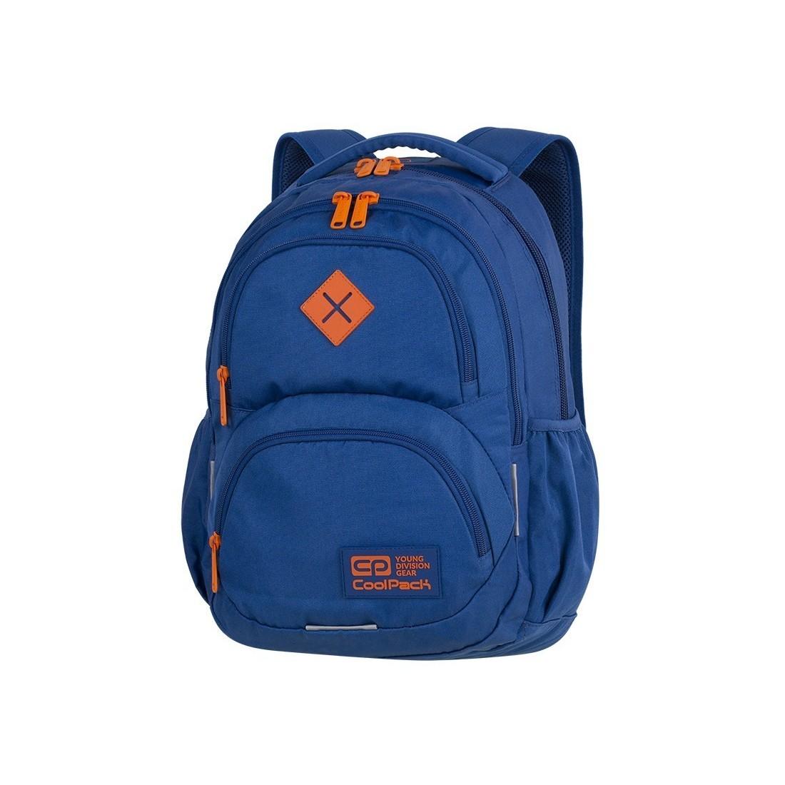 e96352a33e711 Plecak szkolny CoolPack CP DART TEAL ORANGE niebieski młodzieżowy - A395