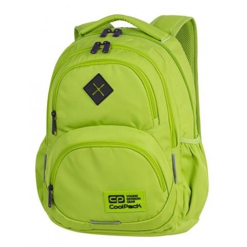 Plecak szkolny CoolPack CP DART LEMON/VIOLET limonkowy dla młodzieży - A399