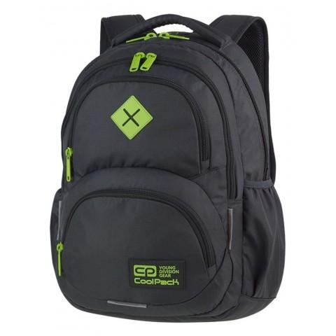 Plecak szkolny CoolPack CP DART GREY/LEMON szary dla chłopaków - A397