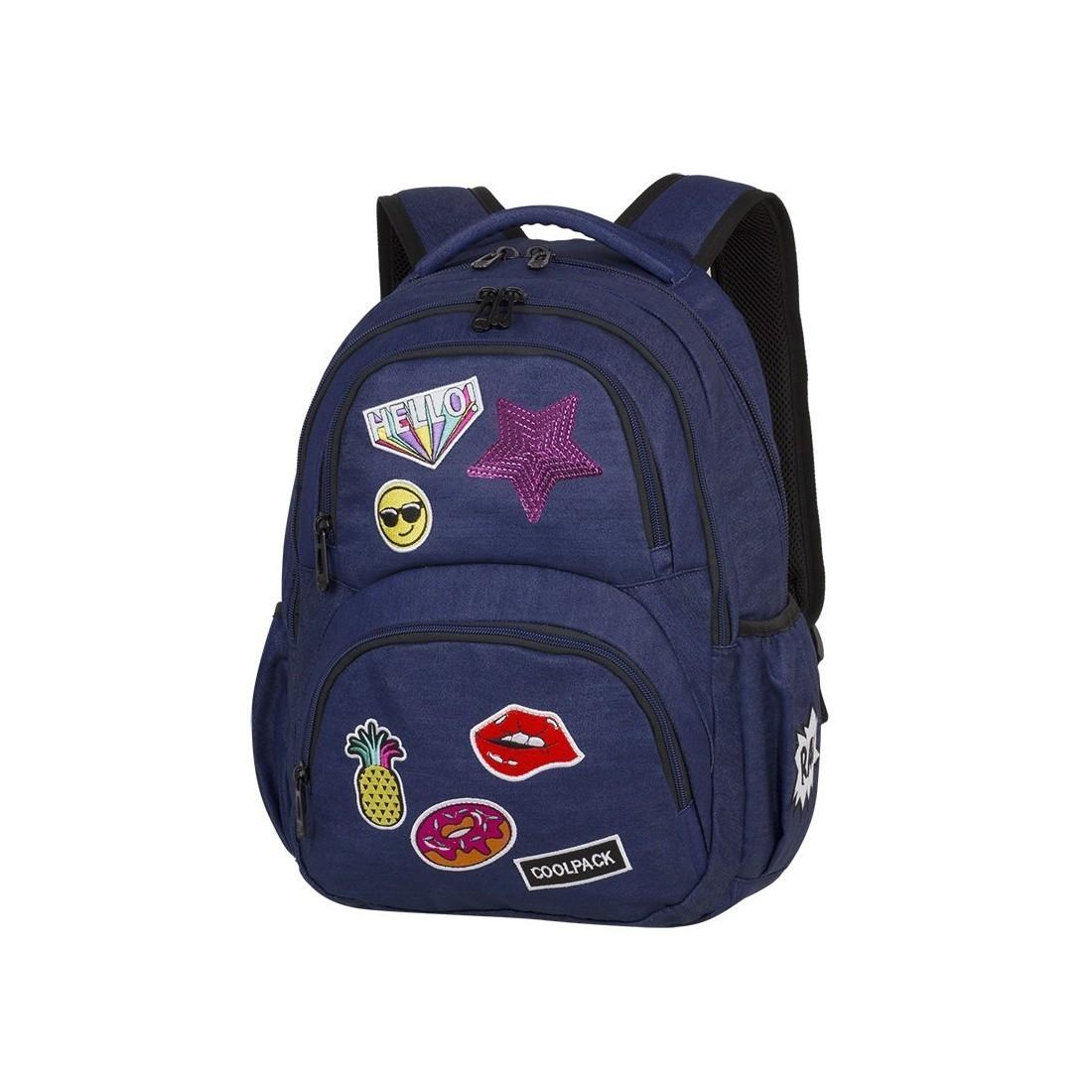 bbe7da62721e5 Plecak młodzieżowy CoolPack CP DART II Badges Girls Denim granatowy z  naszywkami