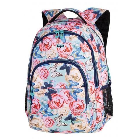 Plecak szkolny CoolPack CP BASIC PLUS BUTTERFLIES pastelowe róże i motyle dla nastolatki - A161