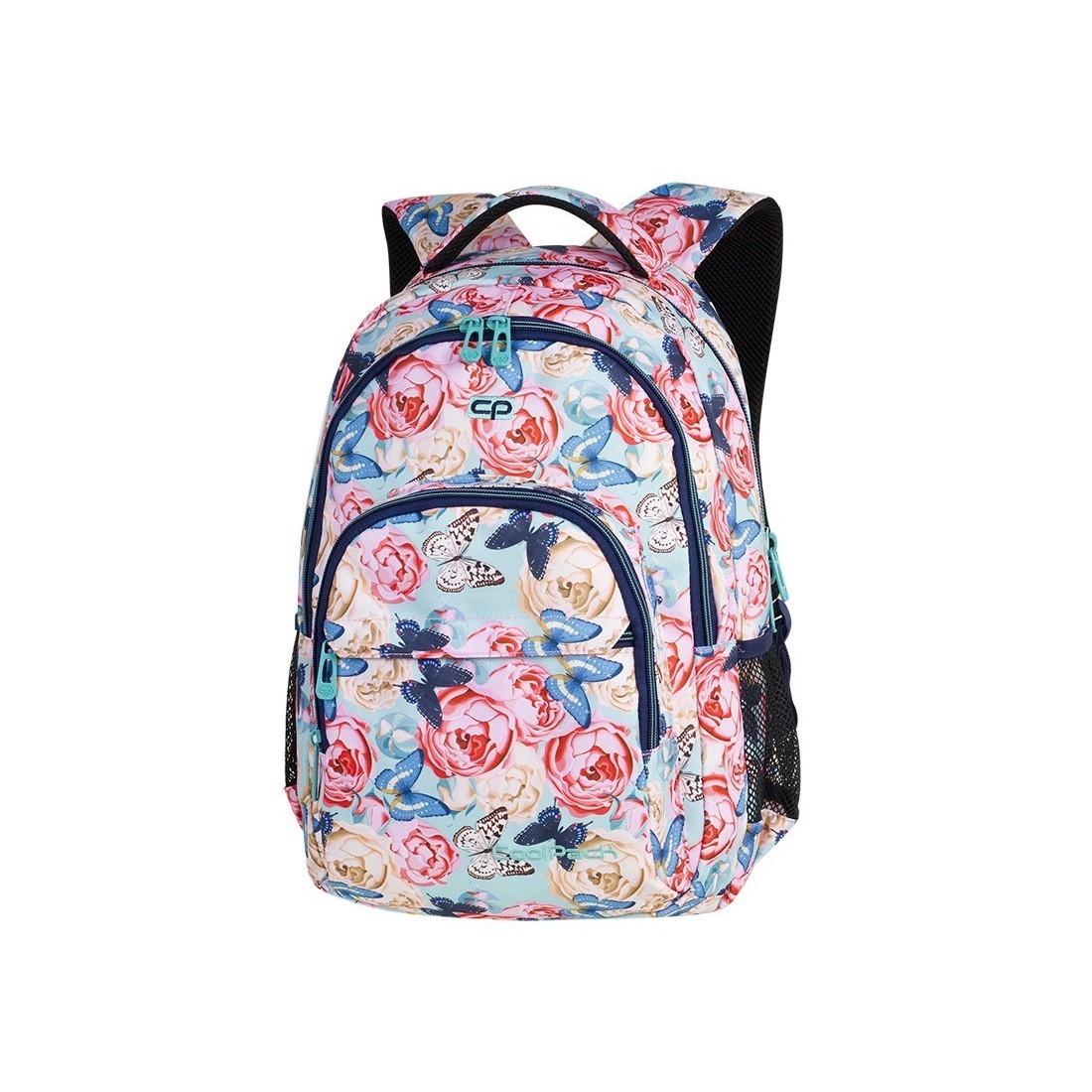 de7efa20cfe1e Plecak szkolny CoolPack CP BASIC PLUS BUTTERFLIES pastelowe róże i motyle  dla nastolatki - A161