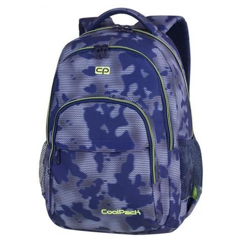 7b1d1eecdfcef Plecak szkolny CoolPack CP BASIC PLUS MISTY GREEN mgła na niebieskim tle  zielone akcenty dla chłopaka
