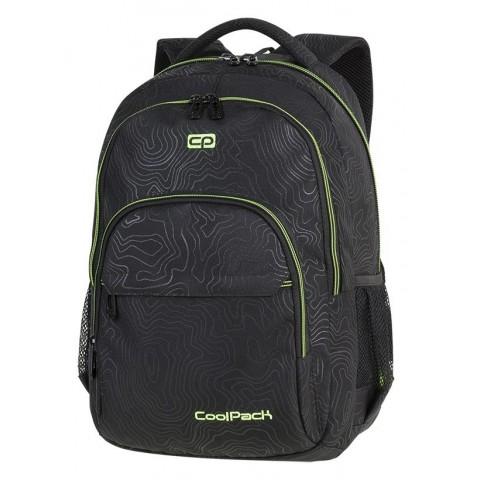 Plecak szkolny CoolPack CP BASIC PLUS TOPOGRAPHY YELLOW czarny z żółtymi detalami dla chłopaka - A150