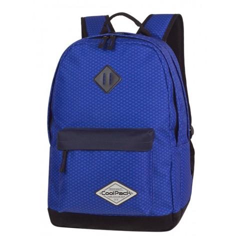 Plecak młodzieżowy CoolPack CP SCOUT COBALT NET kobaltowy czarne elementy - A121