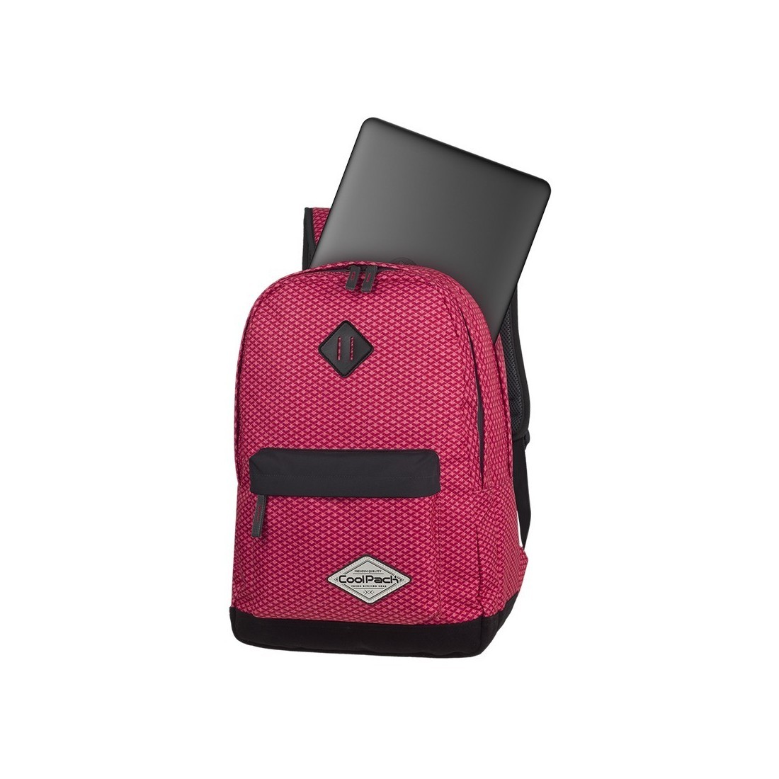 Plecak młodzieżowy CoolPack CP SCOUT CORAL NET koralowy kieszeń na laptop - A118