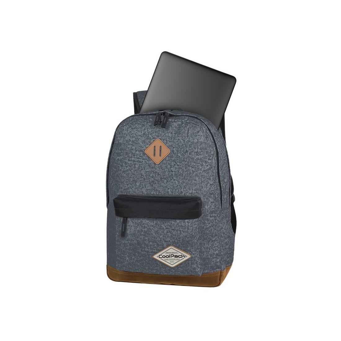 Plecak młodzieżowy CoolPack CP SCOUT SHABBY GREY brudny szary kieszeń na laptop  - A120