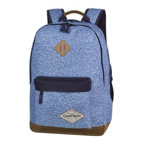 Plecak młodzieżowy CoolPack CP SCOUT SHABBY BLUE niebieski melanż czarne elementy - A119