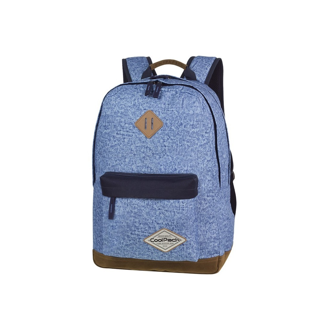 51b91f0cc8bab Plecak młodzieżowy CoolPack CP SCOUT SHABBY BLUE niebieski melanż czarne  elementy - A119