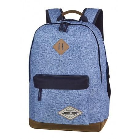 Plecak młodzieżowy CoolPack CP SCOUT SHABBY BLUE niebieski melanż czarne lementy kieszeń na laptop - A119