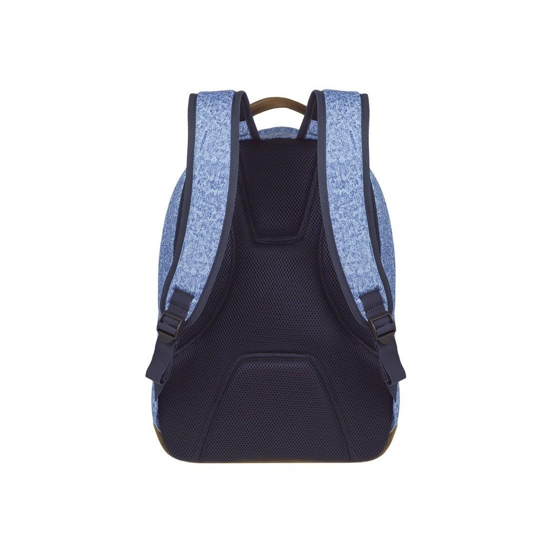 Plecak młodzieżowy CoolPack CP SCOUT SHABBY BLUE niebieski melanż czarne elementy anatomicznie wyprofilowane plecy - A119