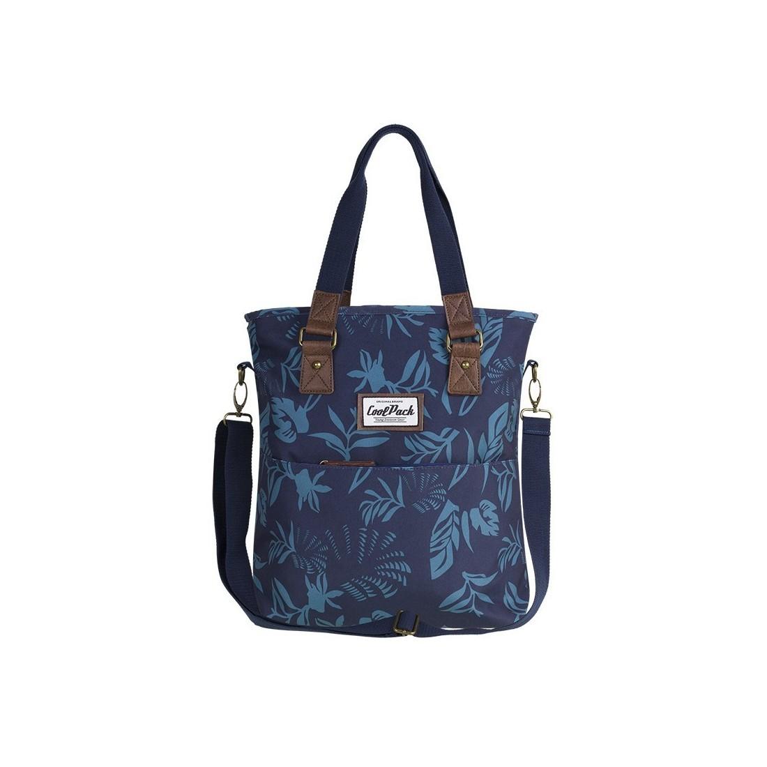 Torba damska na ramię CoolPack CP AMBER BLUE DUSK niebieska liście - A089
