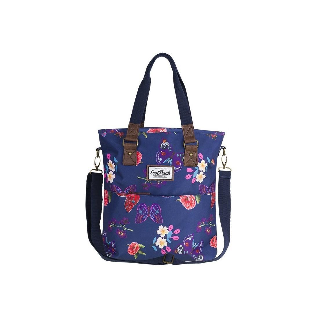 1fb9e3b23a78b Torba damska na ramię CoolPack CP AMBER SUMMER DREAM niebieska w motyle i  kwiaty - A101