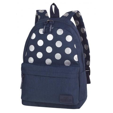 Plecak miejski CoolPack CP STREET SILVER DOTS/BLUE niebieski w kropki - A572