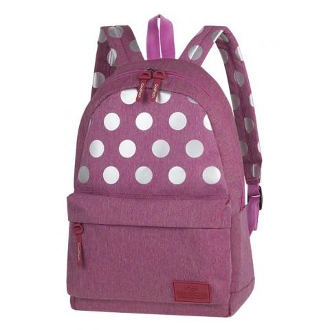 Plecak miejski CoolPack CP STREET SILVER DOTS/PINK różowy w kropki - A574