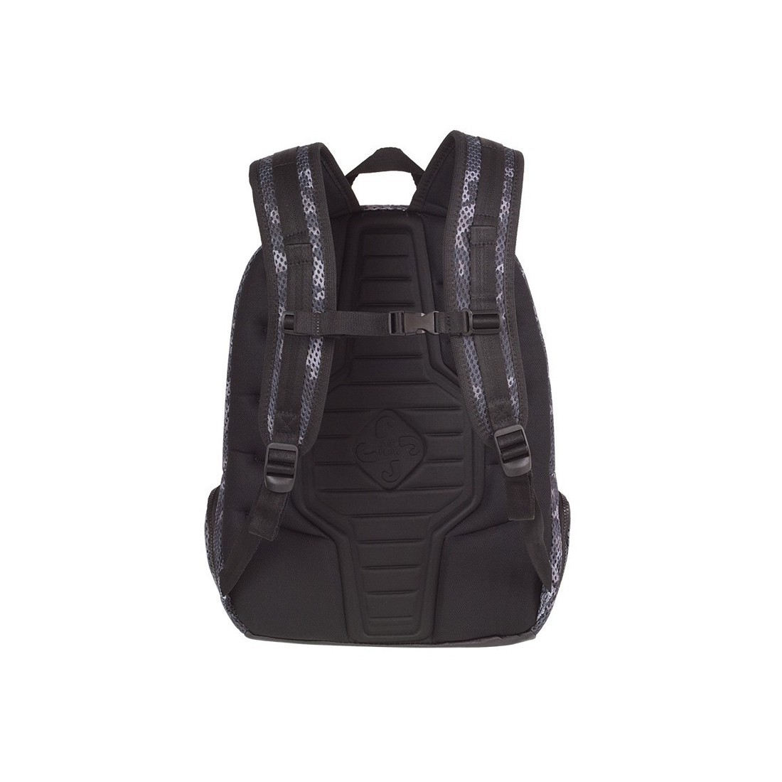 Plecak sportowy moro czarno-szary siatka CoolPack CP IMPACT II CAMO MESH BLACK - A550