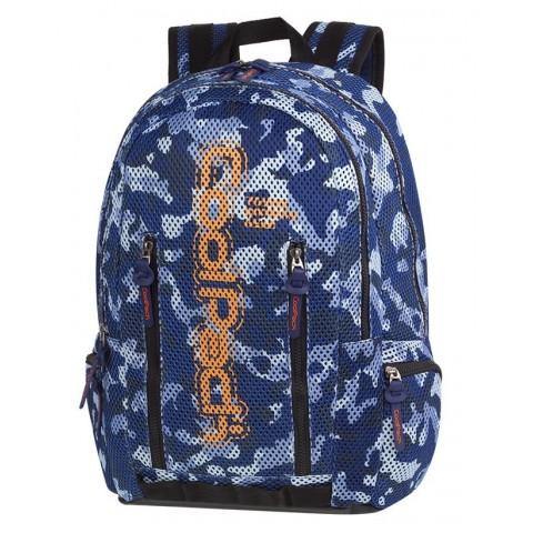 Plecak sportowy moro niebieski siatka CoolPack CP IMPACT II CAMO MESH BLUE - A548