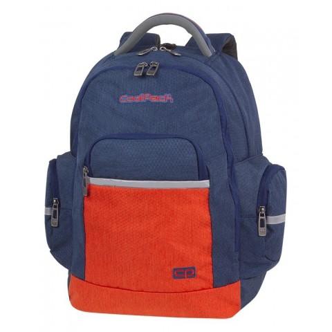 Plecak granatowy, pomarańczowy szkolny CoolPack CP BRICK COLOR FUSION NAVY